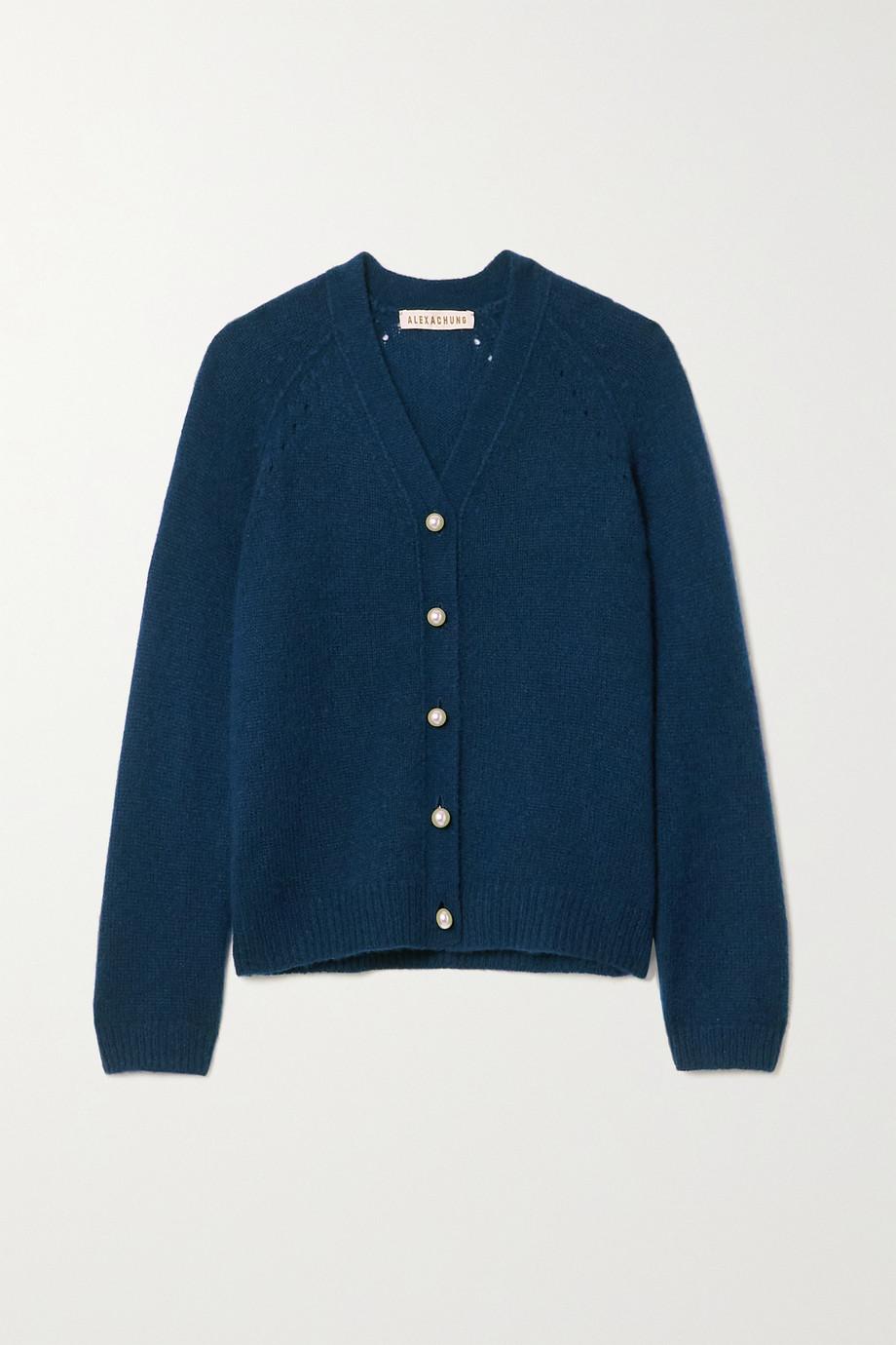 ALEXACHUNG Karlin cashmere and silk-blend cardigan