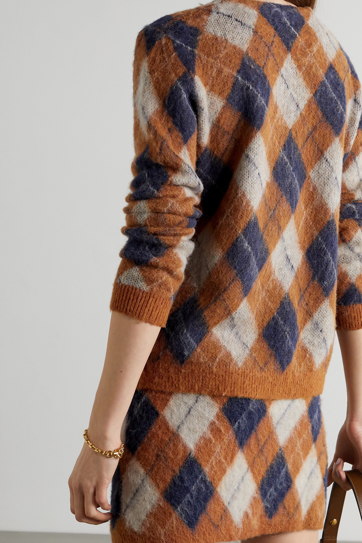 ALEXACHUNG Argyle knitted cardigan
