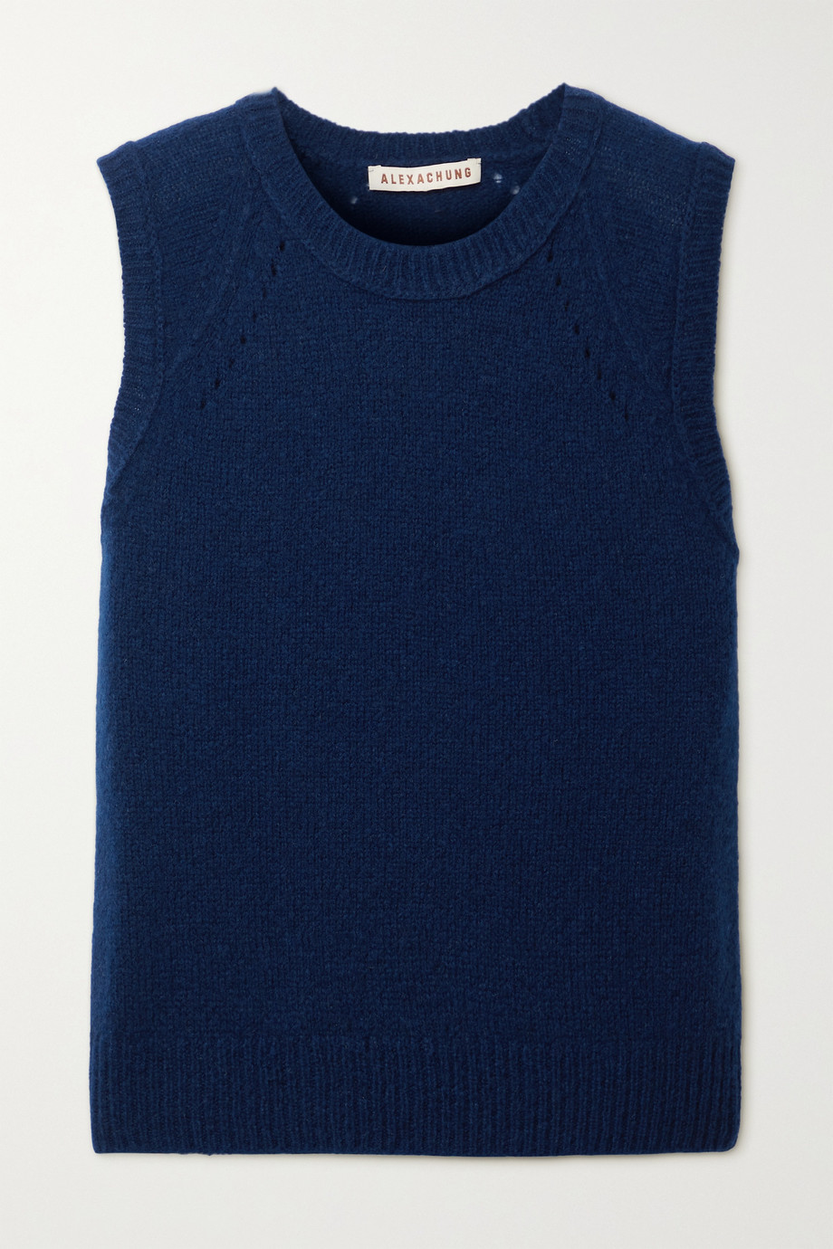 ALEXACHUNG Lyndon pointelle-trimmed cashmere and silk-blend tank