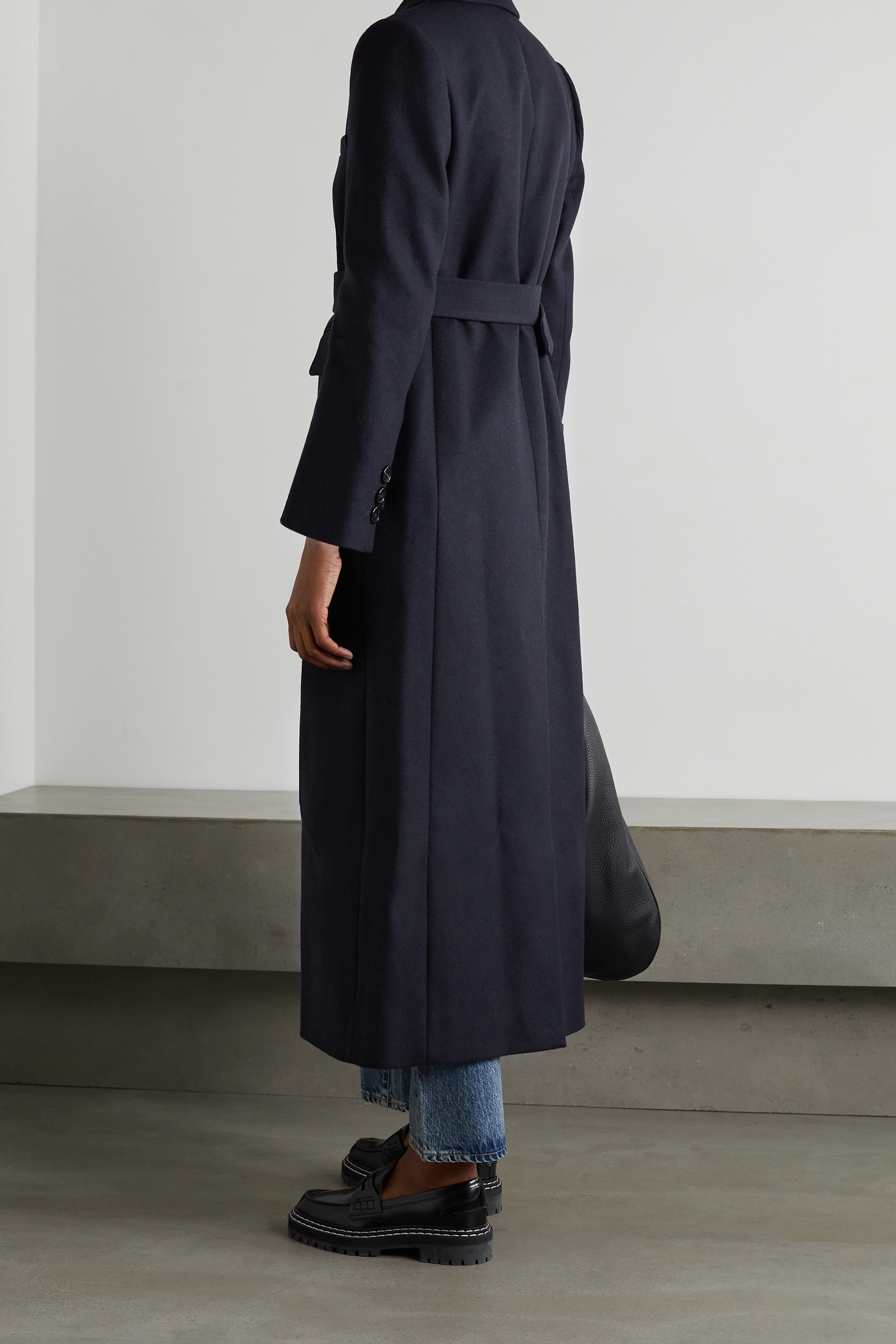 ALEXACHUNG Truman belted double-breasted wool-blend coat