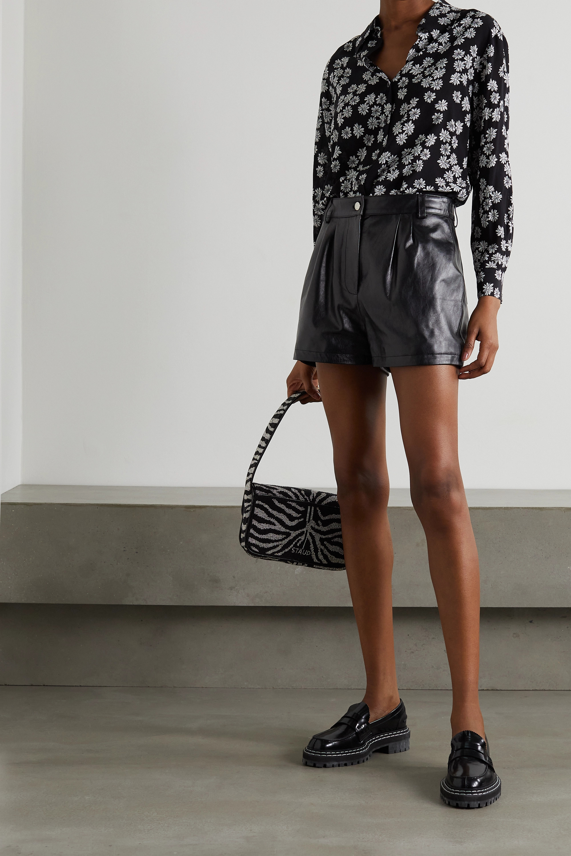 ALEXACHUNG Mulholland leather shorts
