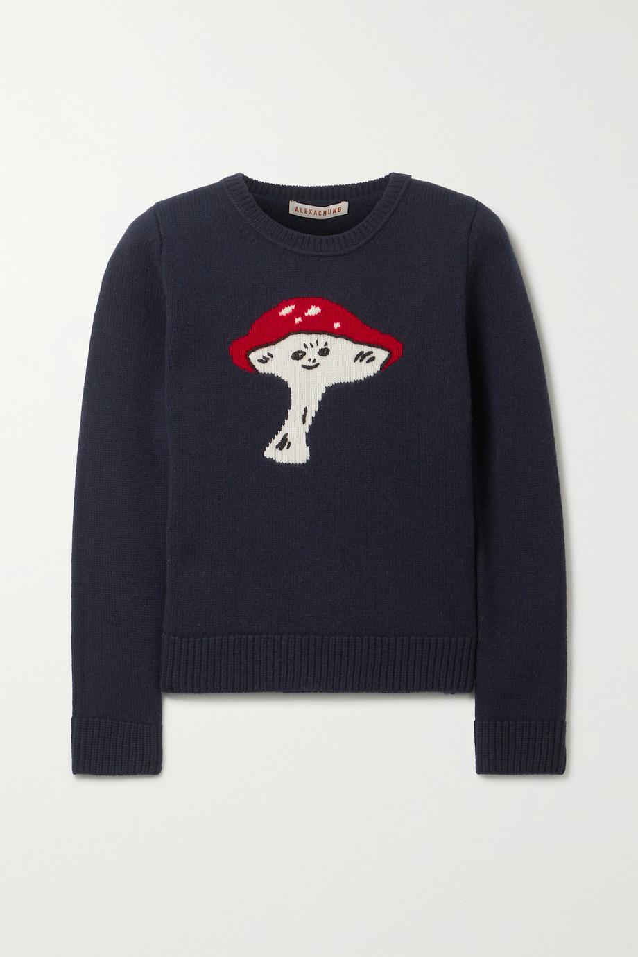 ALEXACHUNG Fun Guy intarsia wool sweater
