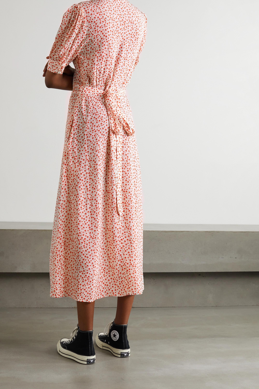 ALEXACHUNG Alice Shroom printed crepe de chine midi dress