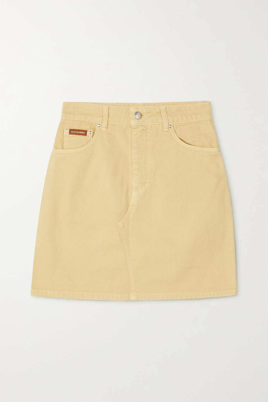 ALEXACHUNG Rosamund organic denim mini skirt