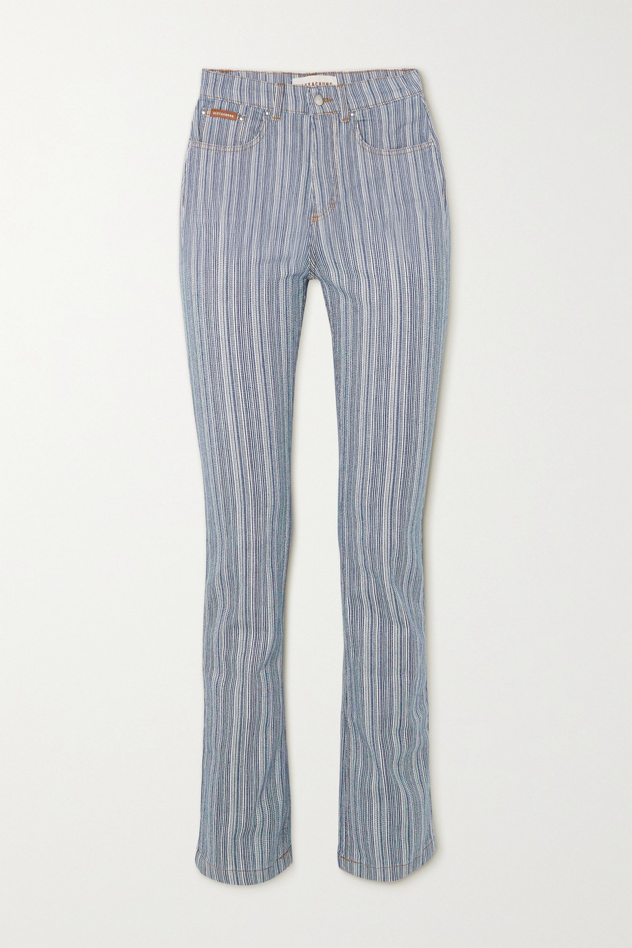 ALEXACHUNG Grady pinstriped flared jeans