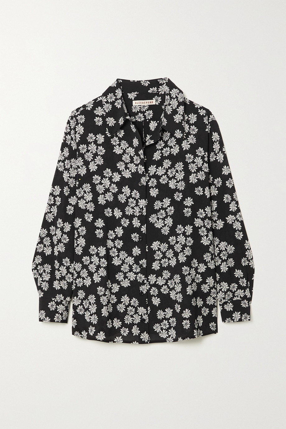 ALEXACHUNG After Hours floral-print crepe shirt