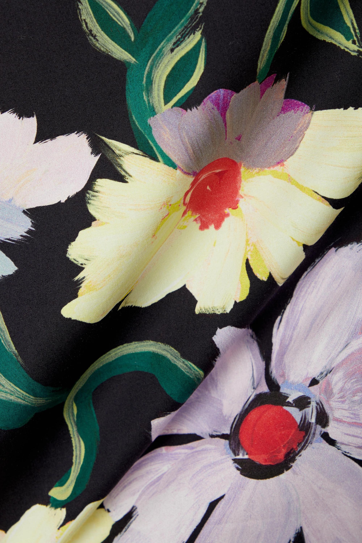 Marni Haut dos ouvert en popeline de coton et en voile à imprimé fleuri et à superposition