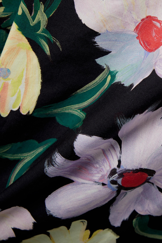 Marni Pantalon large effet portefeuille en popeline de coton à imprimé fleuri