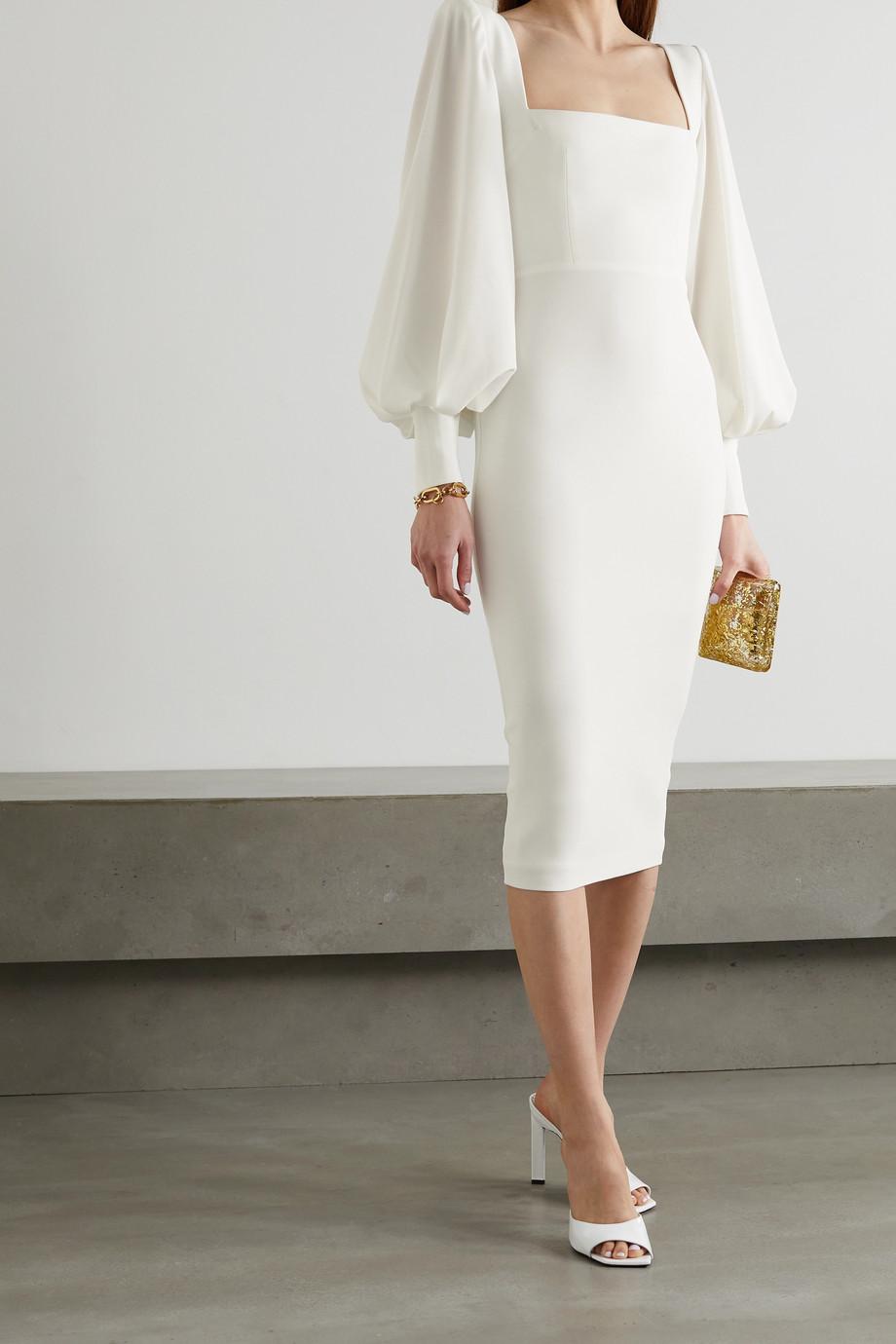 Alex Perry Pearson satin-crepe midi dress