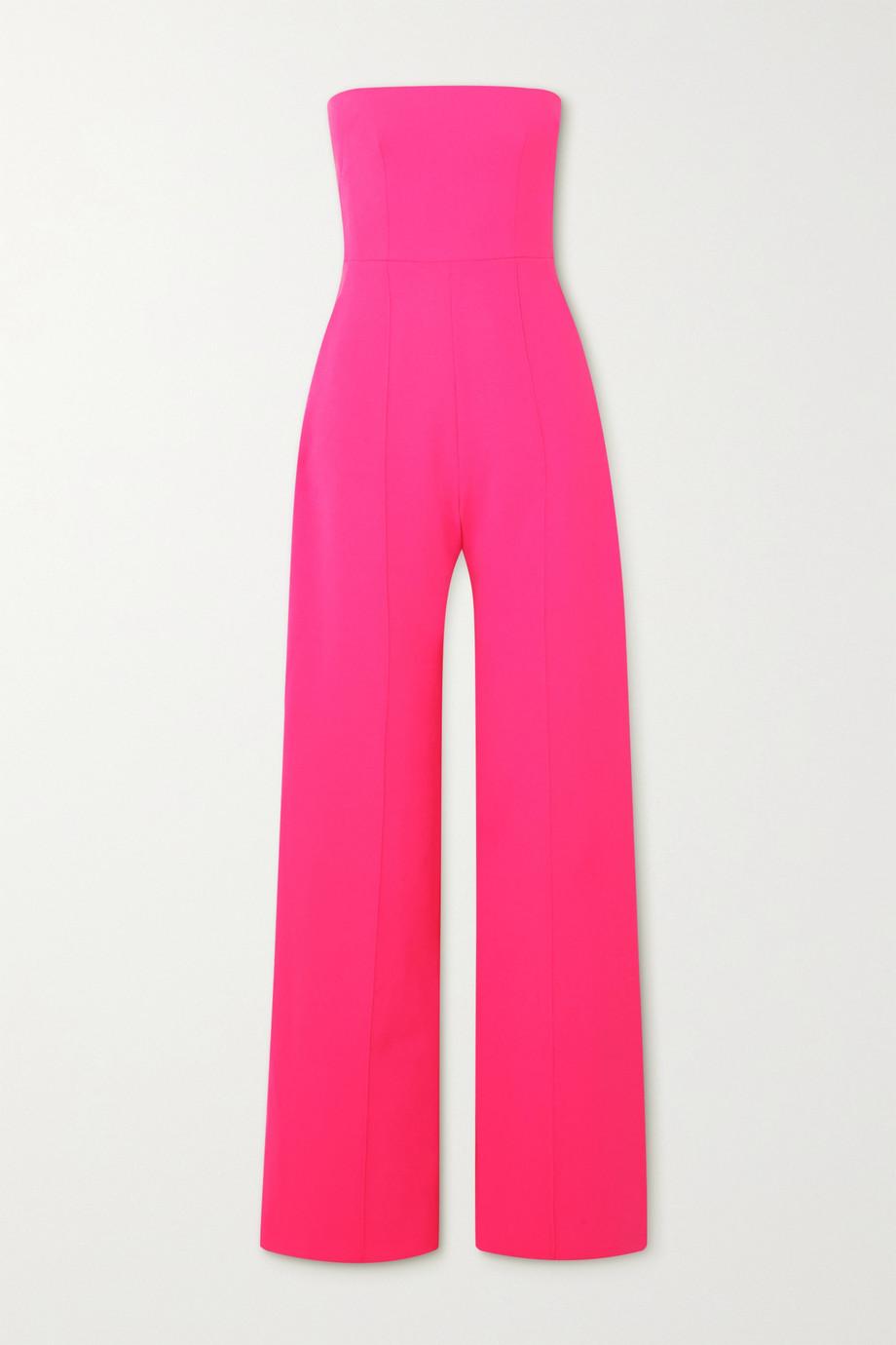 Alex Perry Mandel strapless neon stretch-crepe jumpsuit