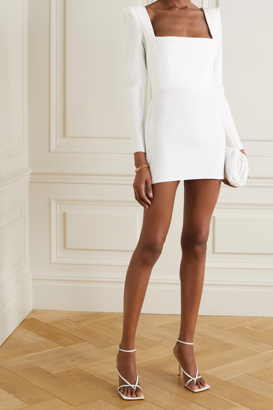 Alex Perry Aaron crepe mini dress