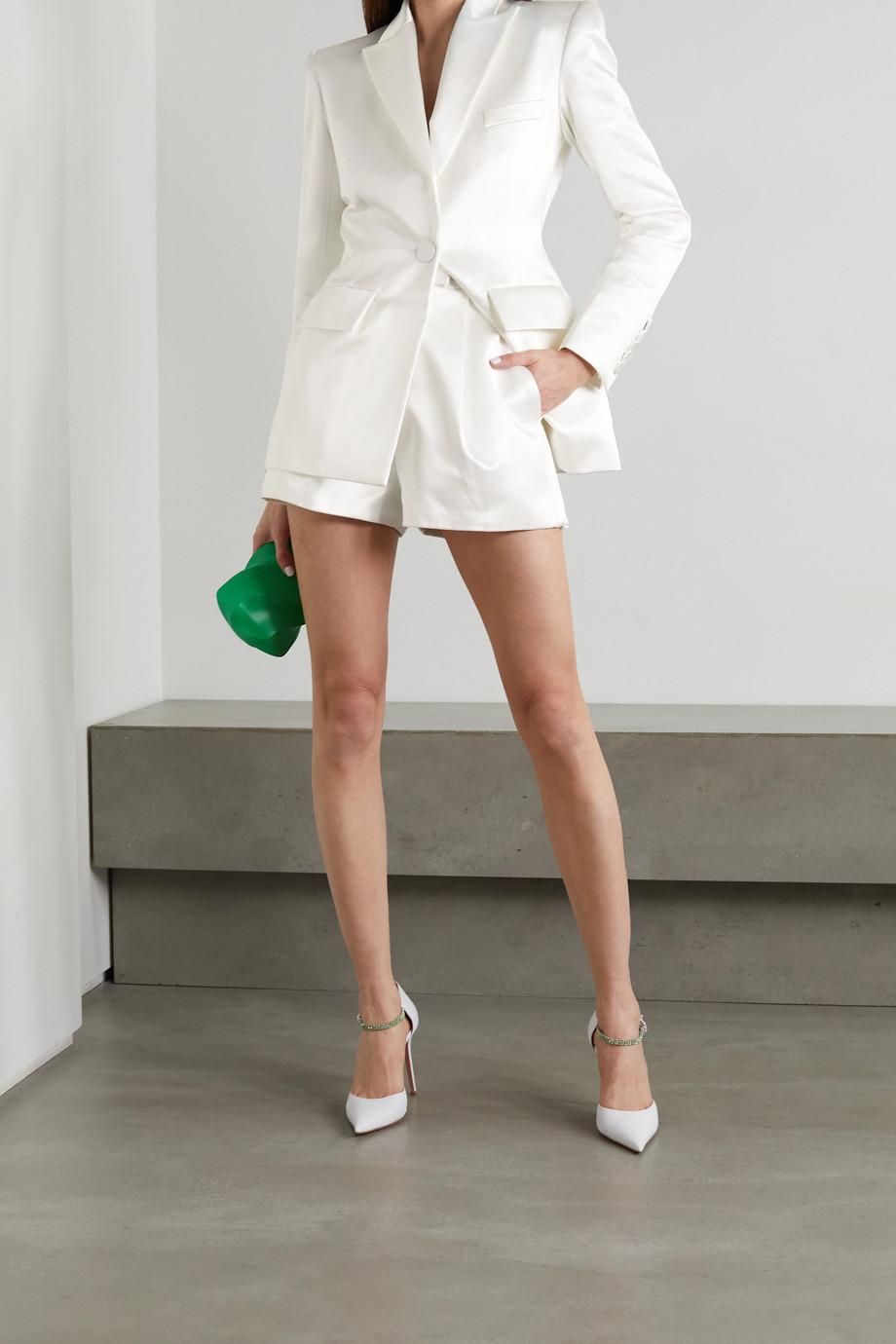 Alex Perry Caden Shorts aus Duchesse-Satin aus einer Baumwoll-Seidenmischung