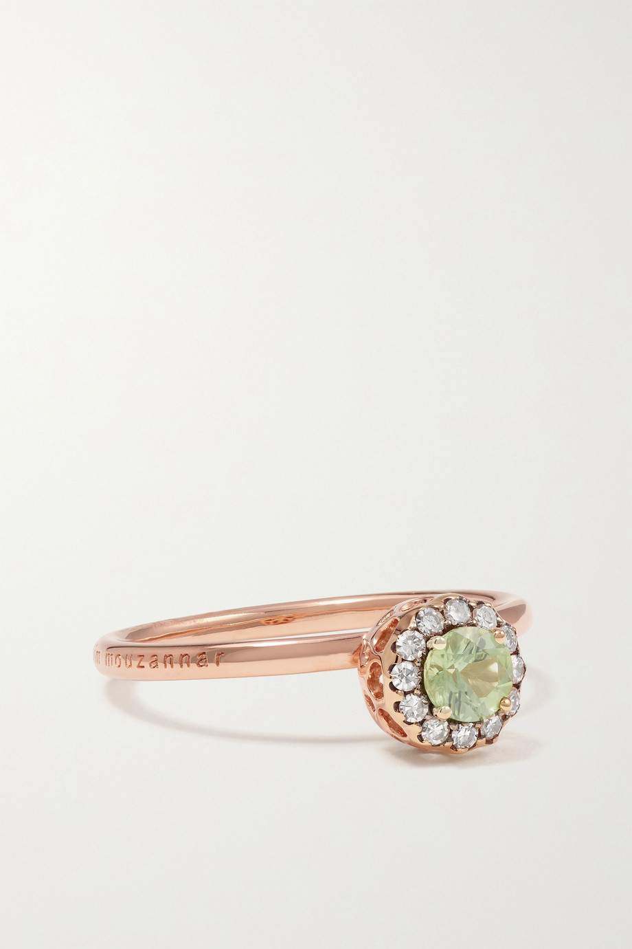 Selim Mouzannar Beirut 18-karat rose gold, tourmaline and diamond ring