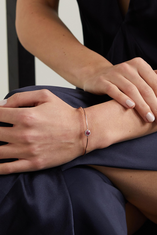 Selim Mouzannar Bracelet en or rose 18 carats (750/1000), tourmaline et diamants