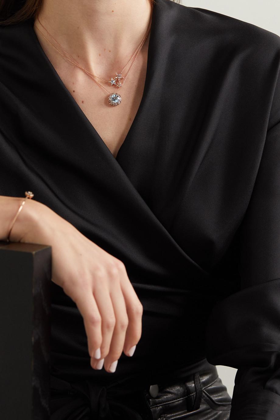Selim Mouzannar Istanbul 18-karat rose gold multi-stone necklace