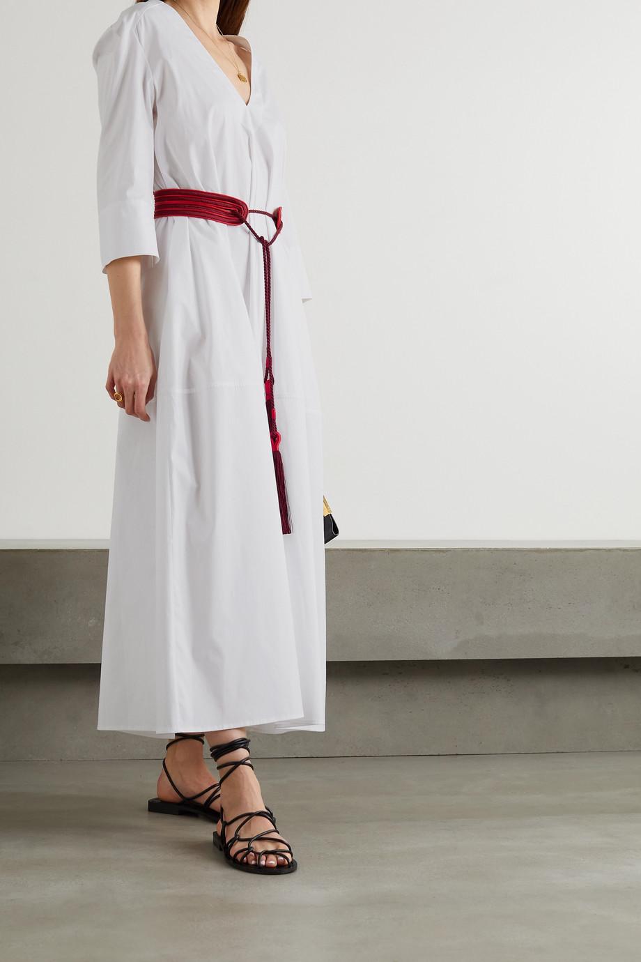 Zeus+Dione Thysano tasseled cotton-blend poplin midi dress