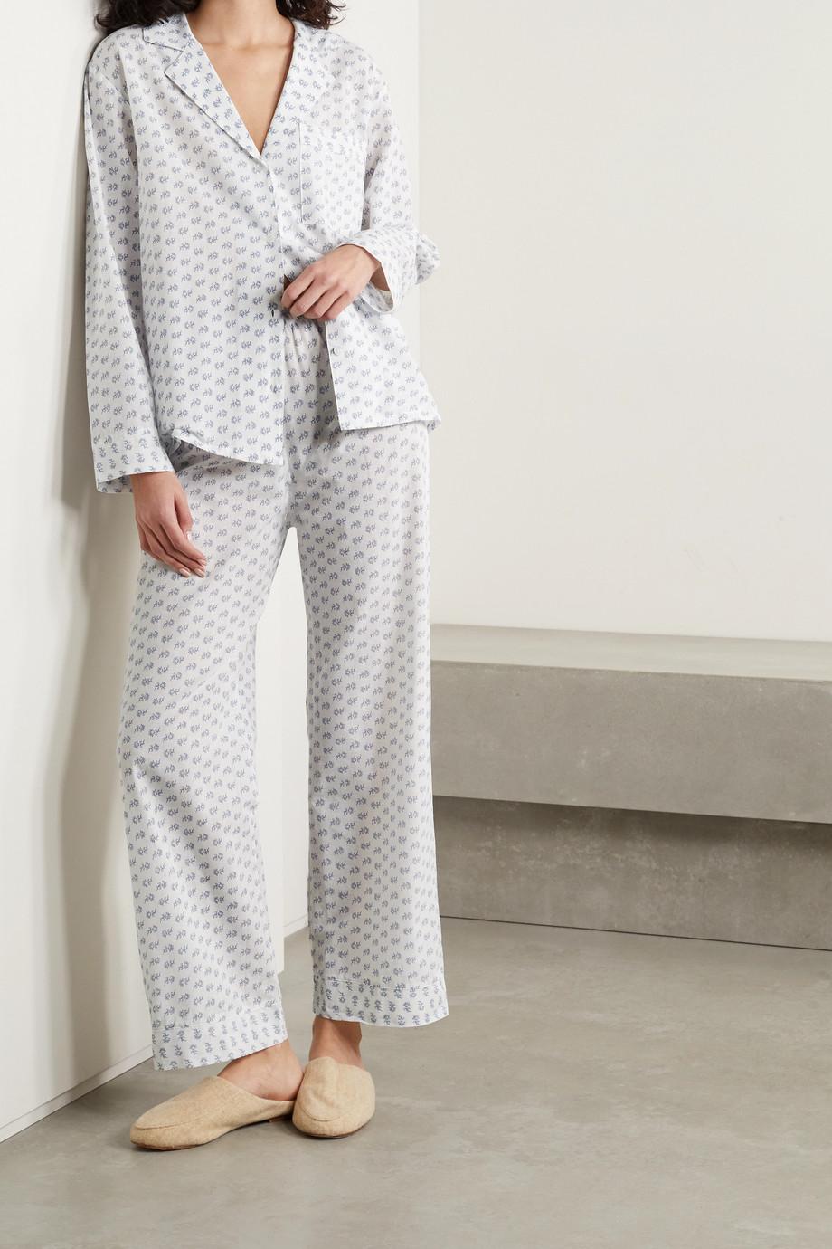 Eberjey Nautico floral-print cotton-voile pajama set