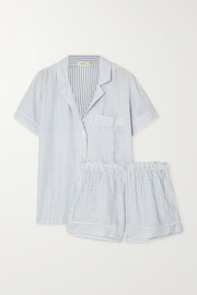 Eberjey Nautico striped cotton-blend pajama set