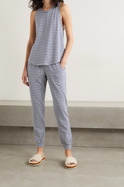 Eberjey Quincy striped stretch-modal and cotton-blend jersey pajama set