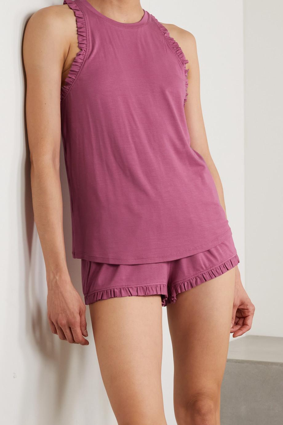 Eberjey Ruthie Caravan ruffled stretch-modal pajama set