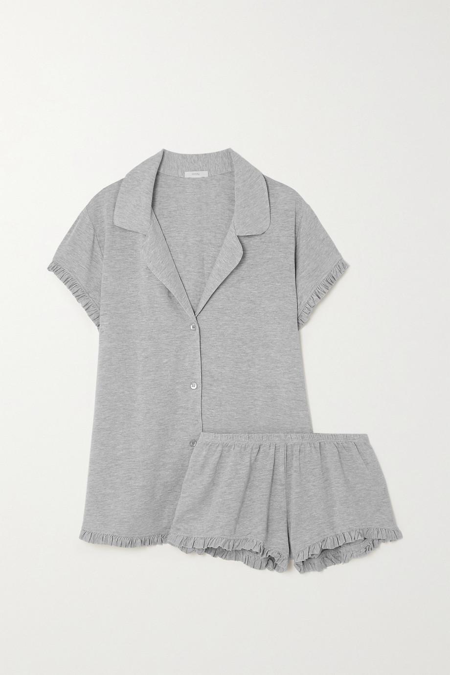 Eberjey Ruthie ruffled stretch-modal jersey pajama set