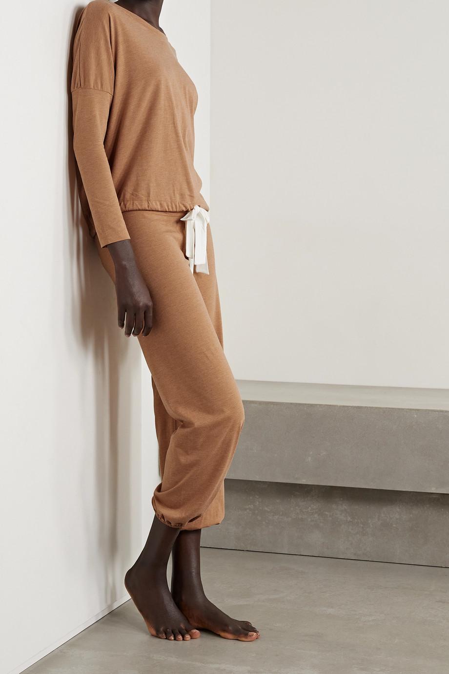 Eberjey Heather Pyjama-Oberteil aus Jersey aus einer Baumwollmischung