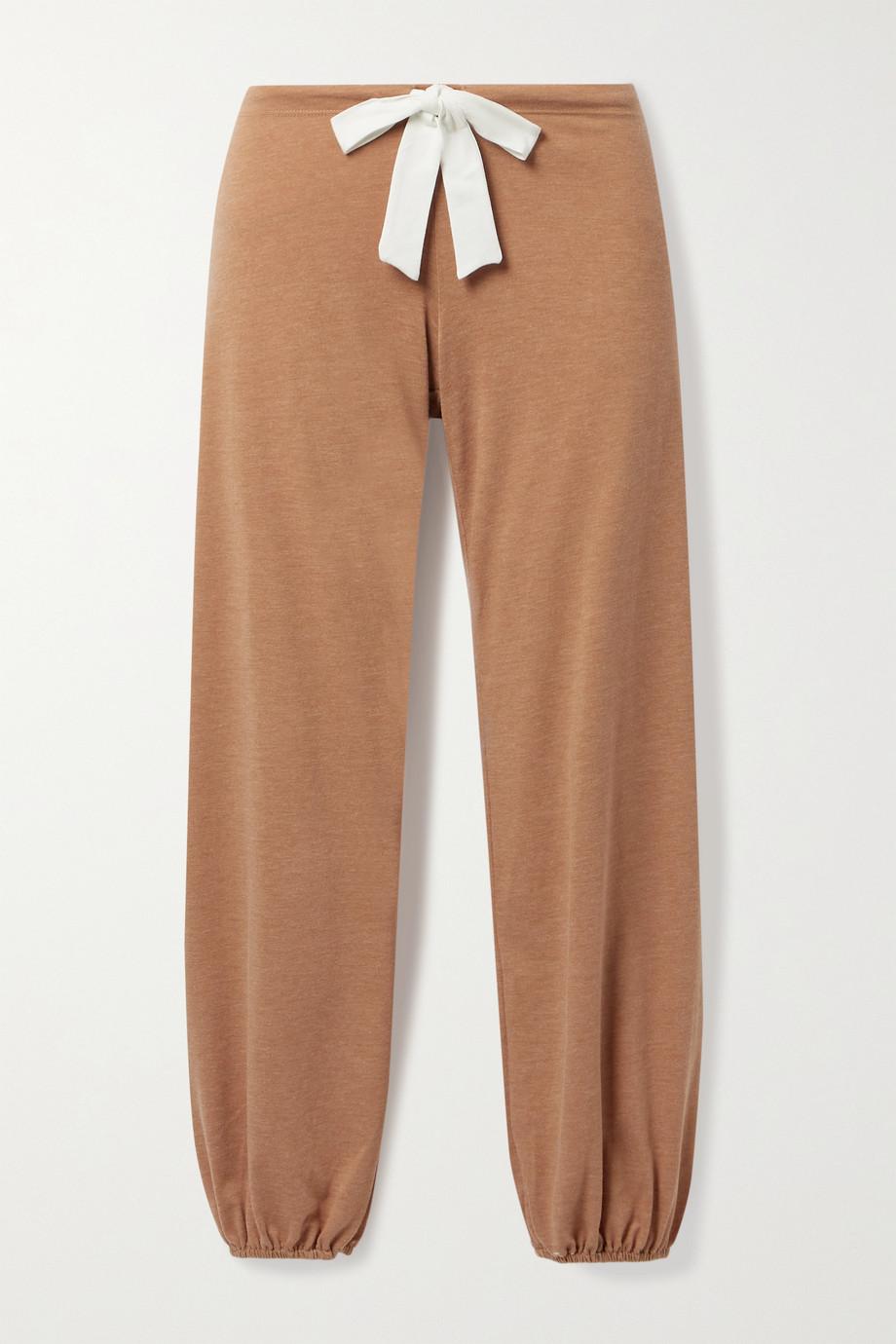 Eberjey Heather cotton-blend jersey pajama pants