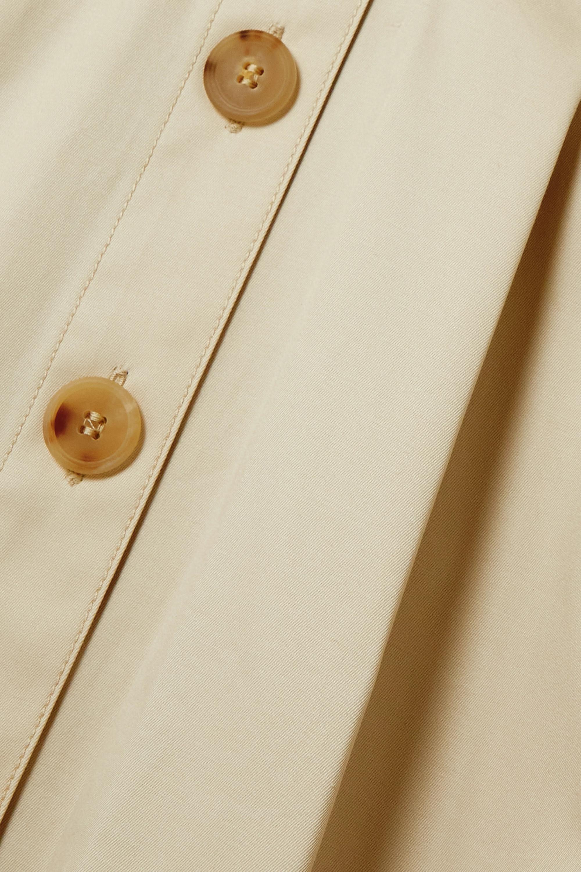 Carolina Herrera Midikleid aus Twill aus einer Baumwollmischung mit Gürtel