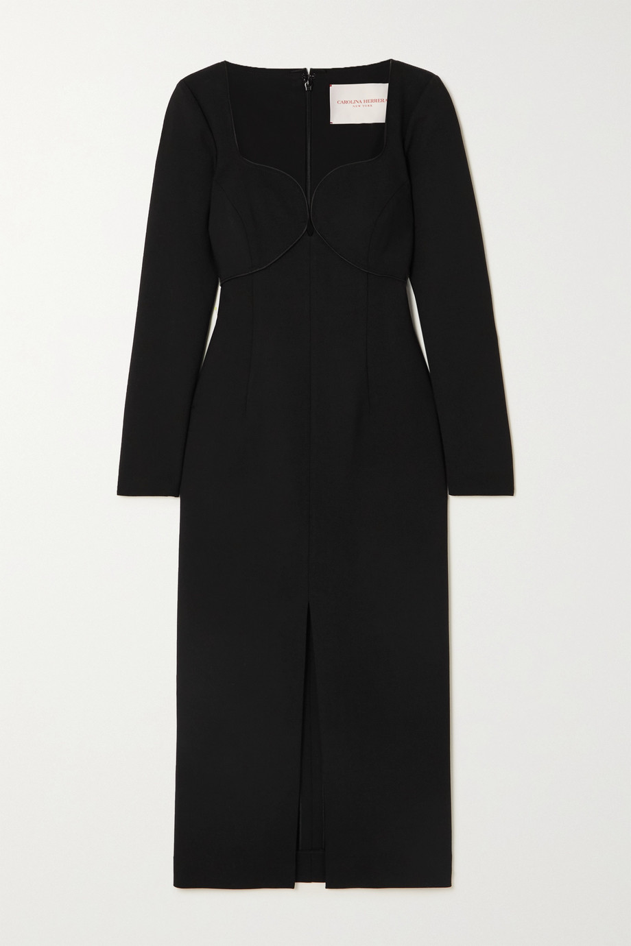 Carolina Herrera Paneled wool-blend cady midi dress