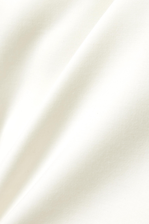 Carolina Herrera Minikleid aus Crêpe aus einer Wollmischung mit Cut-out
