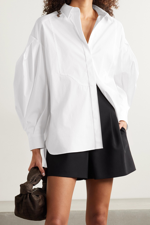 Carolina Herrera Hemd aus Popeline aus einer Baumwollmischung mit Falten