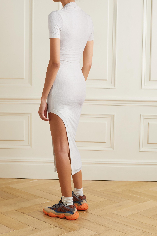 Alix NYC Spencer asymmetric ribbed-knit midi dress