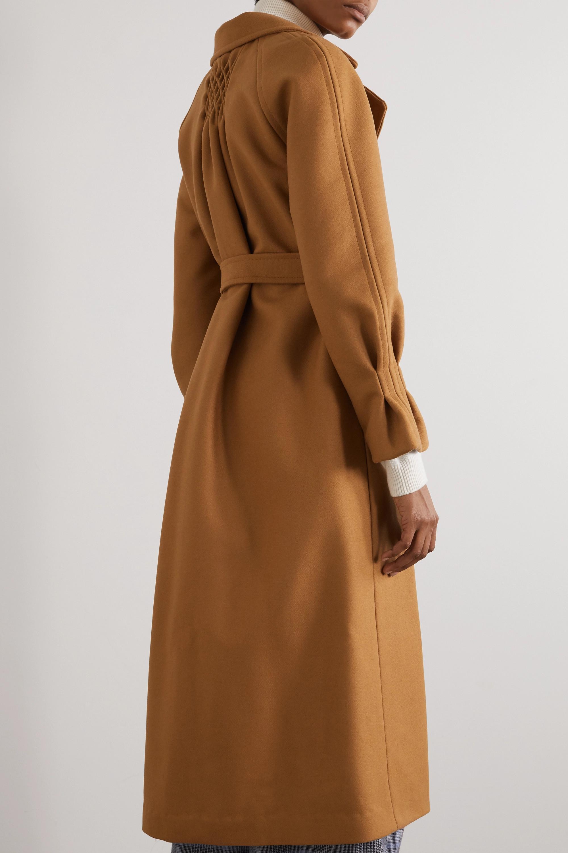 YOOX NET-A-PORTER For The Prince's Foundation Doppelreihiger Mantel aus einer Merinowoll-Kaschmirmischung mit Gürtel