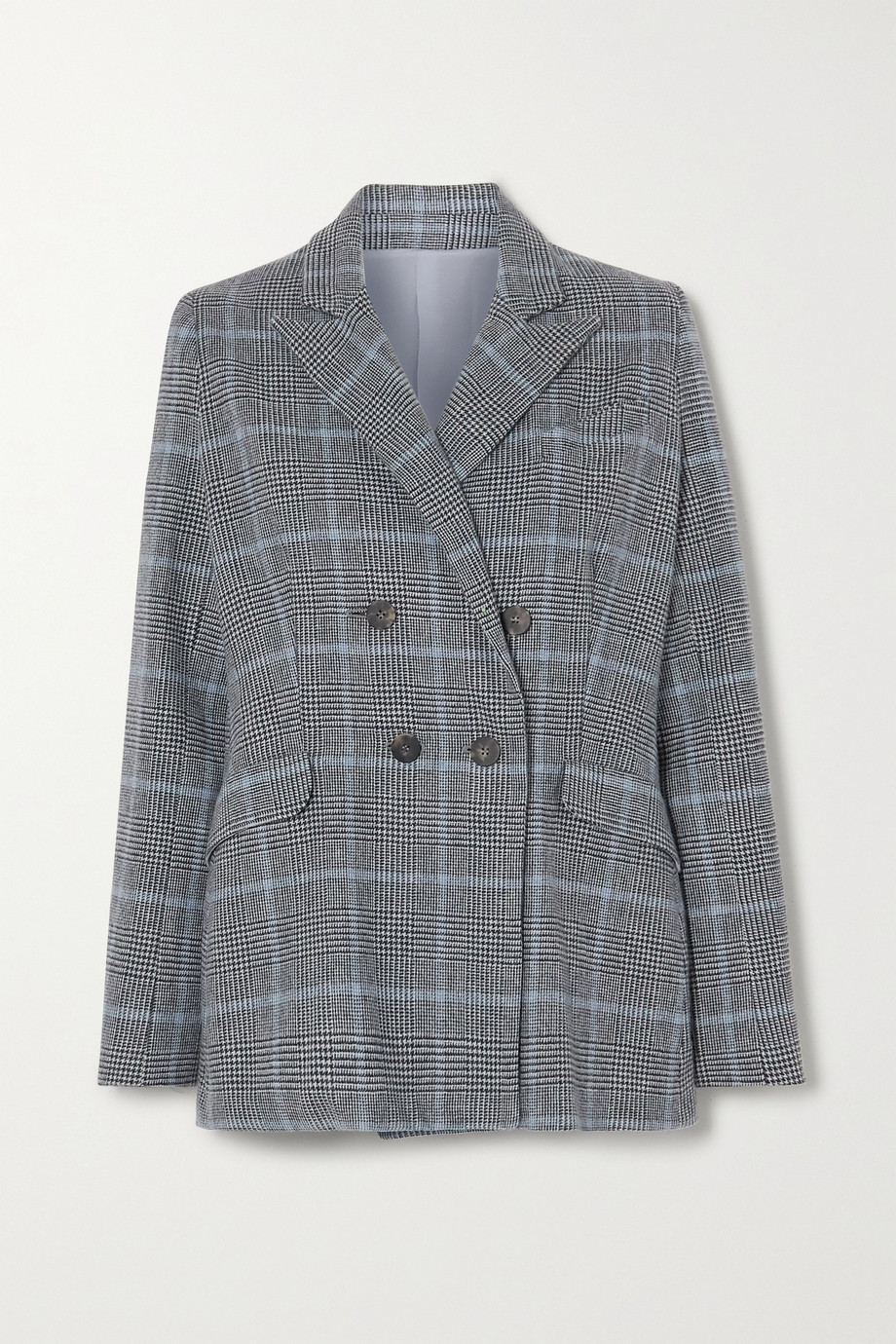 YOOX NET-A-PORTER For The Prince's Foundation Double-breasted Prince of Wales checked cashmere blazer