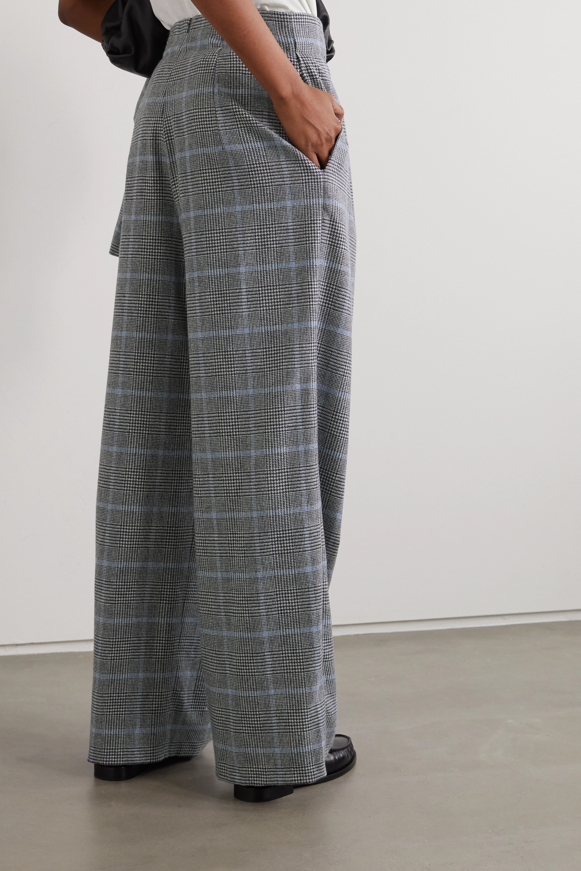 YOOX NET-A-PORTER For The Prince's Foundation Hose mit weitem Bein aus Kaschmir mit Glencheck-Muster