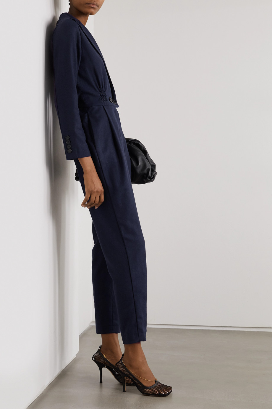 YOOX NET-A-PORTER For The Prince's Foundation Doppelreihiger Jumpsuit aus Kaschmir mit Fischgratmuster