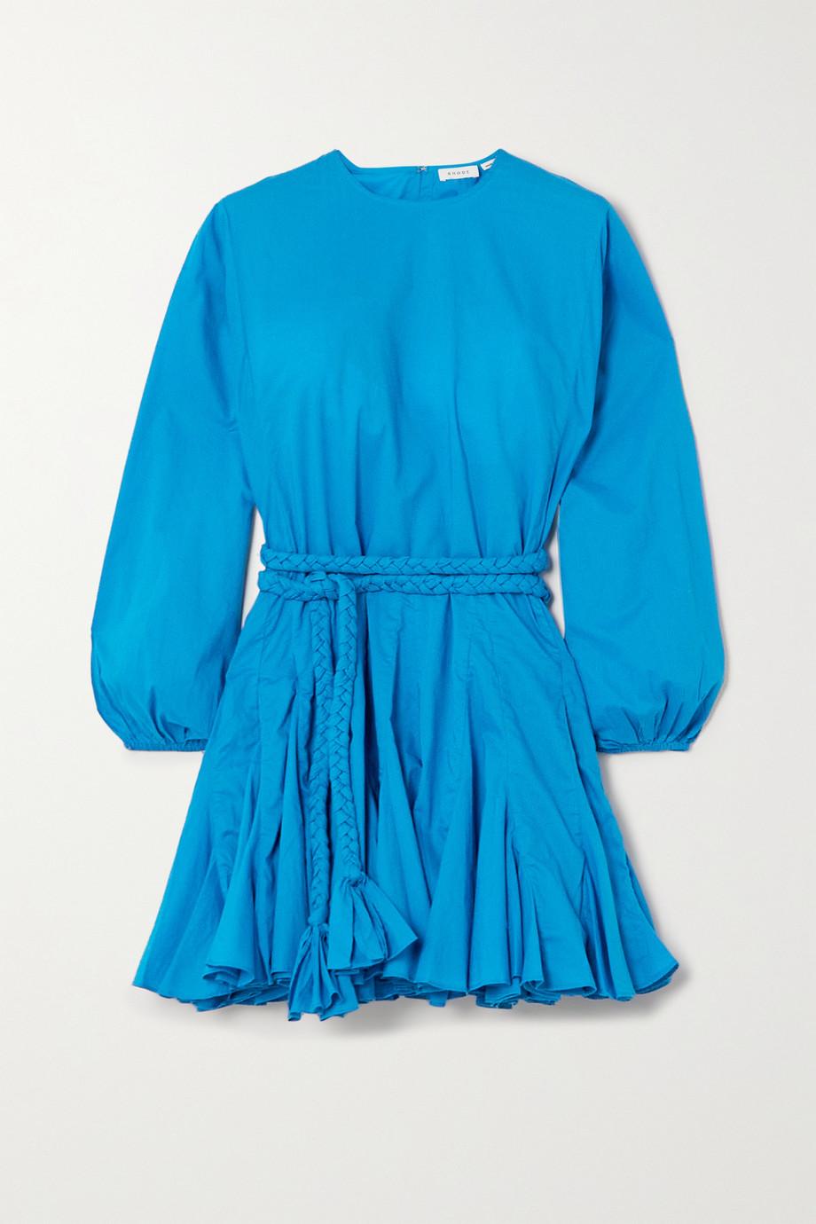 Rhode Ella Minikleid aus Baumwolle mit Falten und Bindegürtel