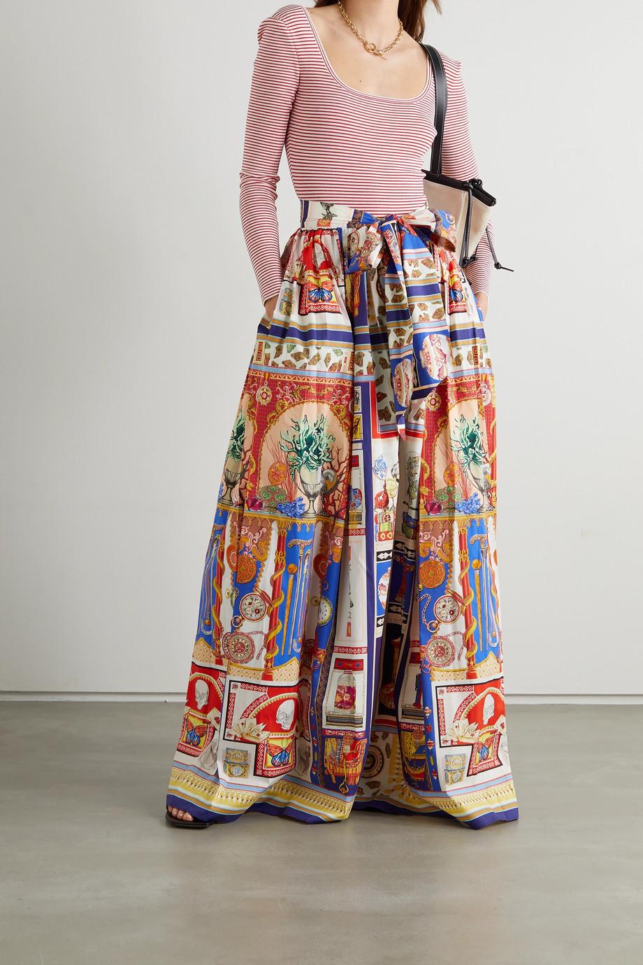 Etro Printed cotton-blend maxi skirt