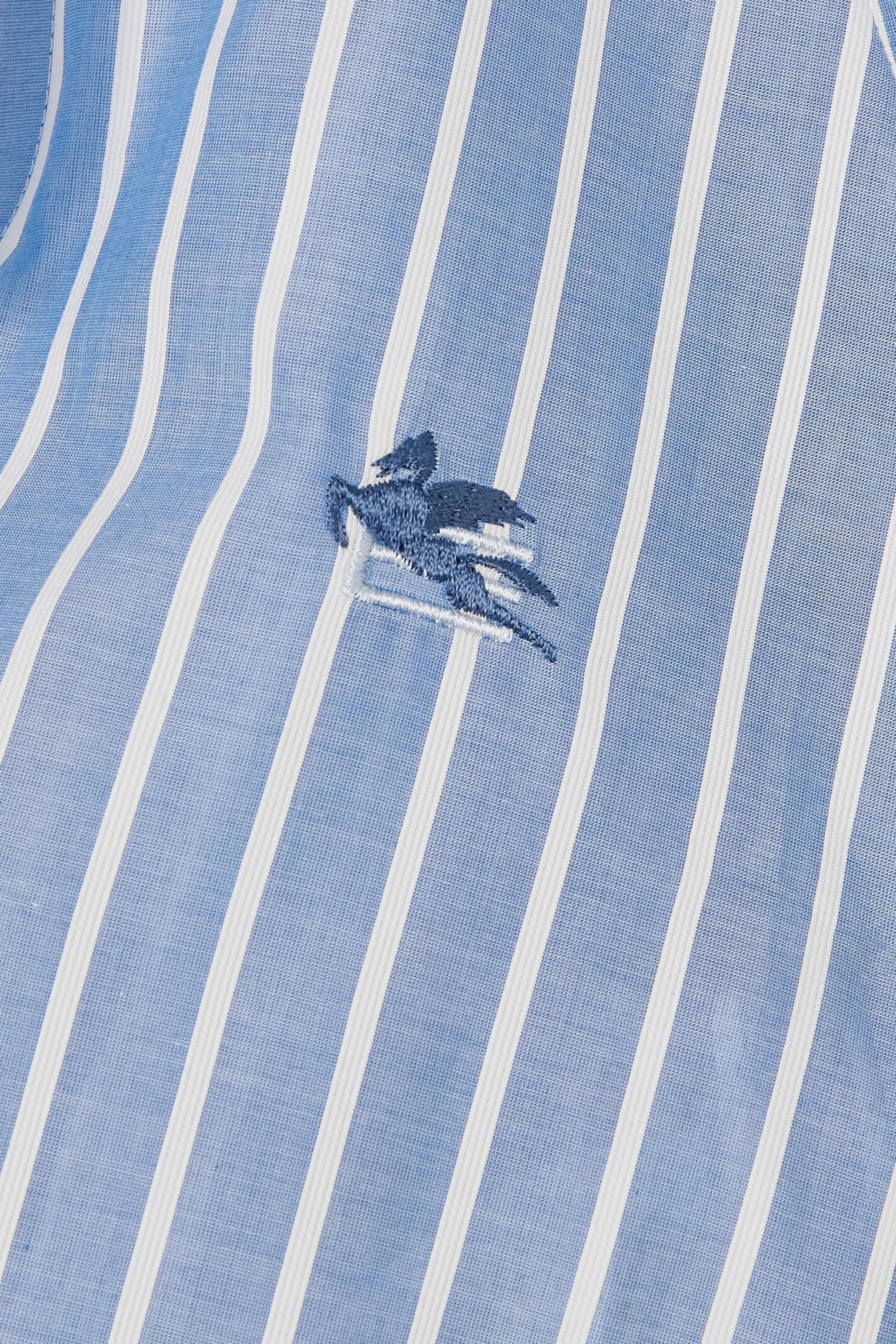 Etro Verkürztes Hemd aus gestreifter Baumwollpopeline zum Binden