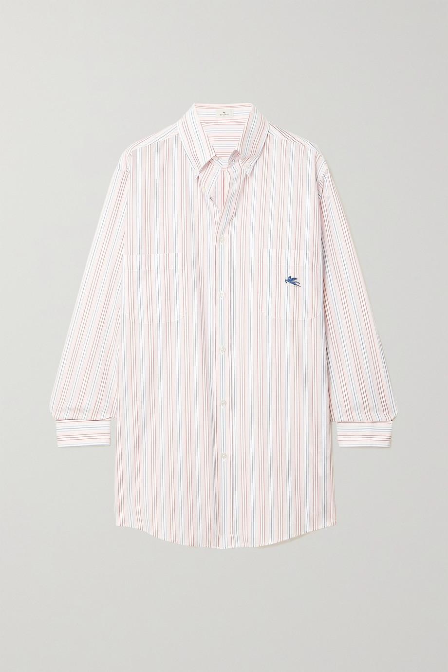 Etro Oversized pinstriped cotton-poplin shirt