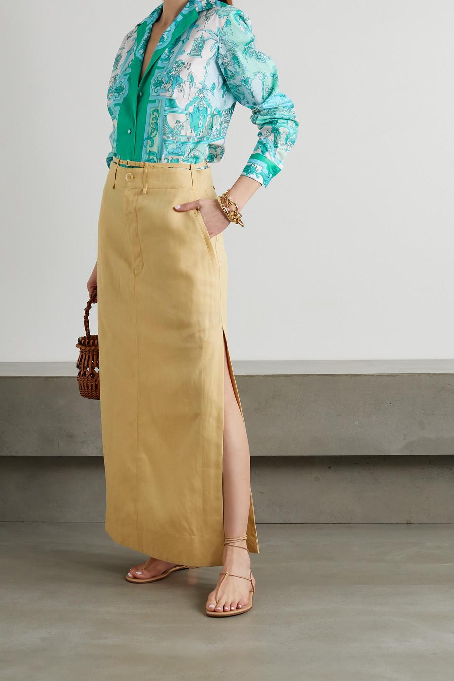 Etro Printed cotton-blend poplin shirt