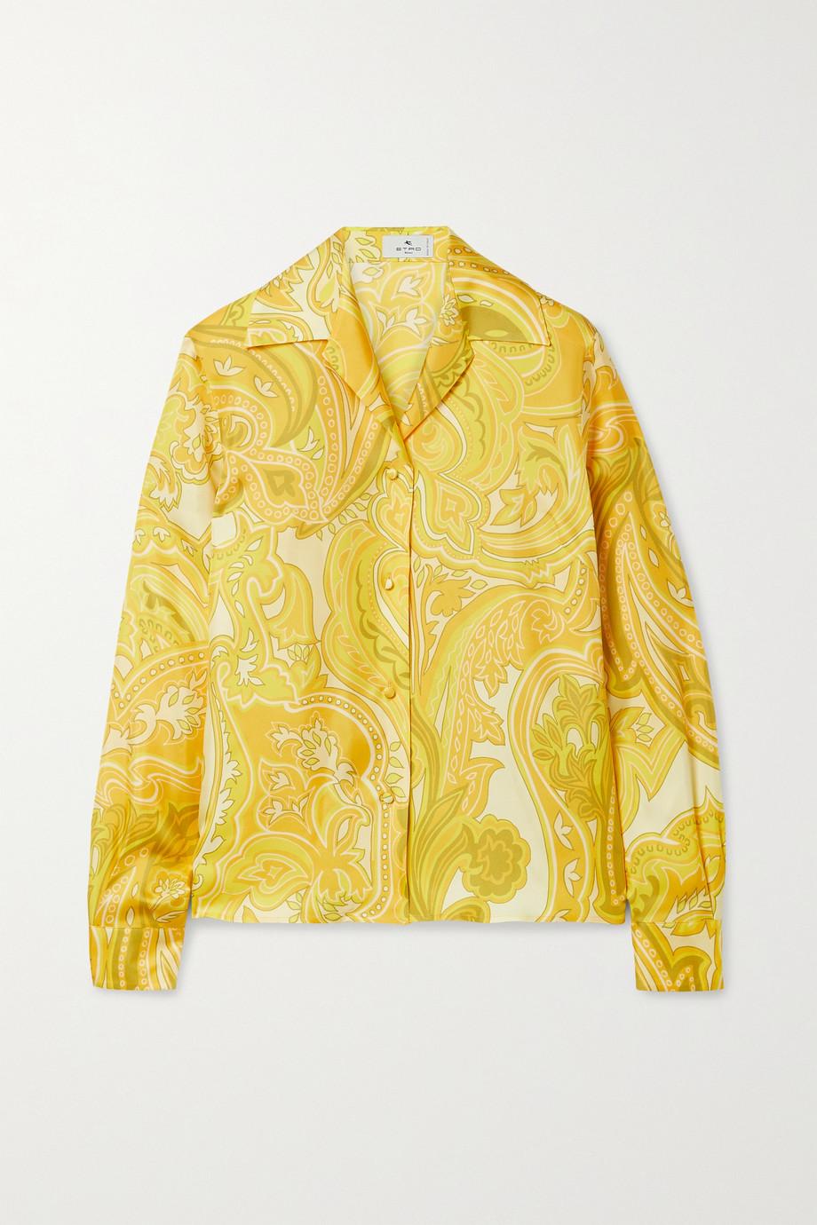 Etro Paisley-print silk-twill shirt