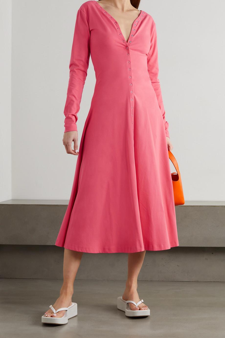 Molly Goddard Roberta stretch-cotton jersey midi dress