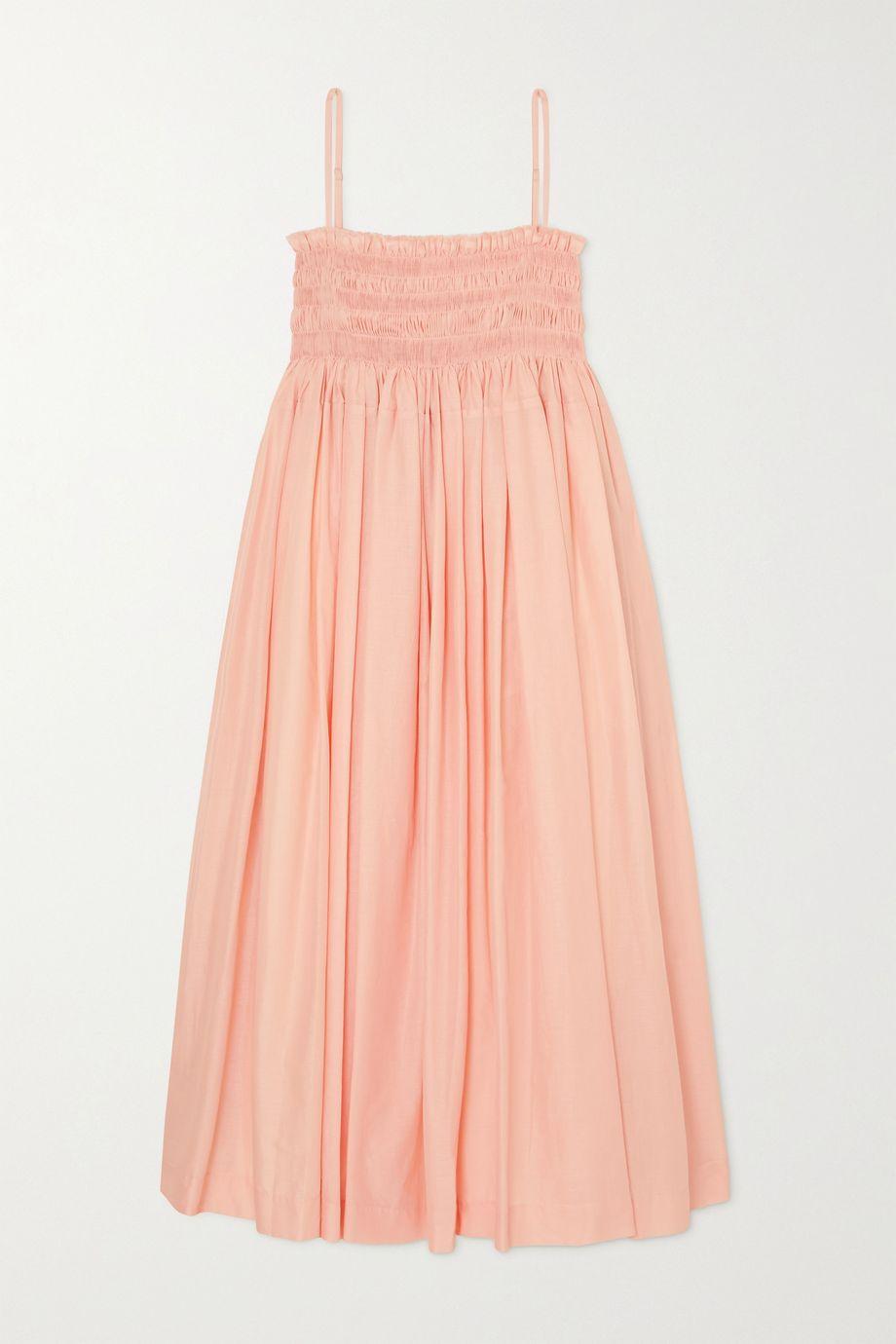 Molly Goddard Becky shirred cotton-voile midi dress