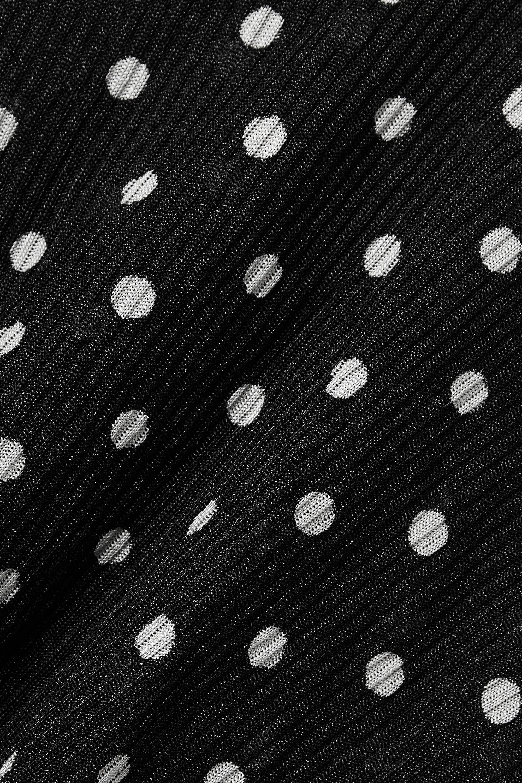 Balenciaga Oversized-Midikleid aus Rippstrick mit Polka-Dots und Cut-out