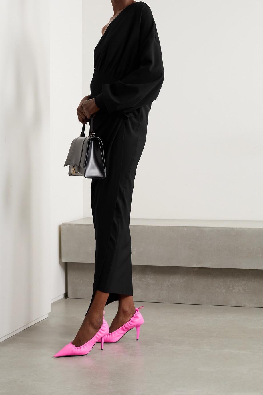 Balenciaga Robe midi portefeuille asymétrique en jersey