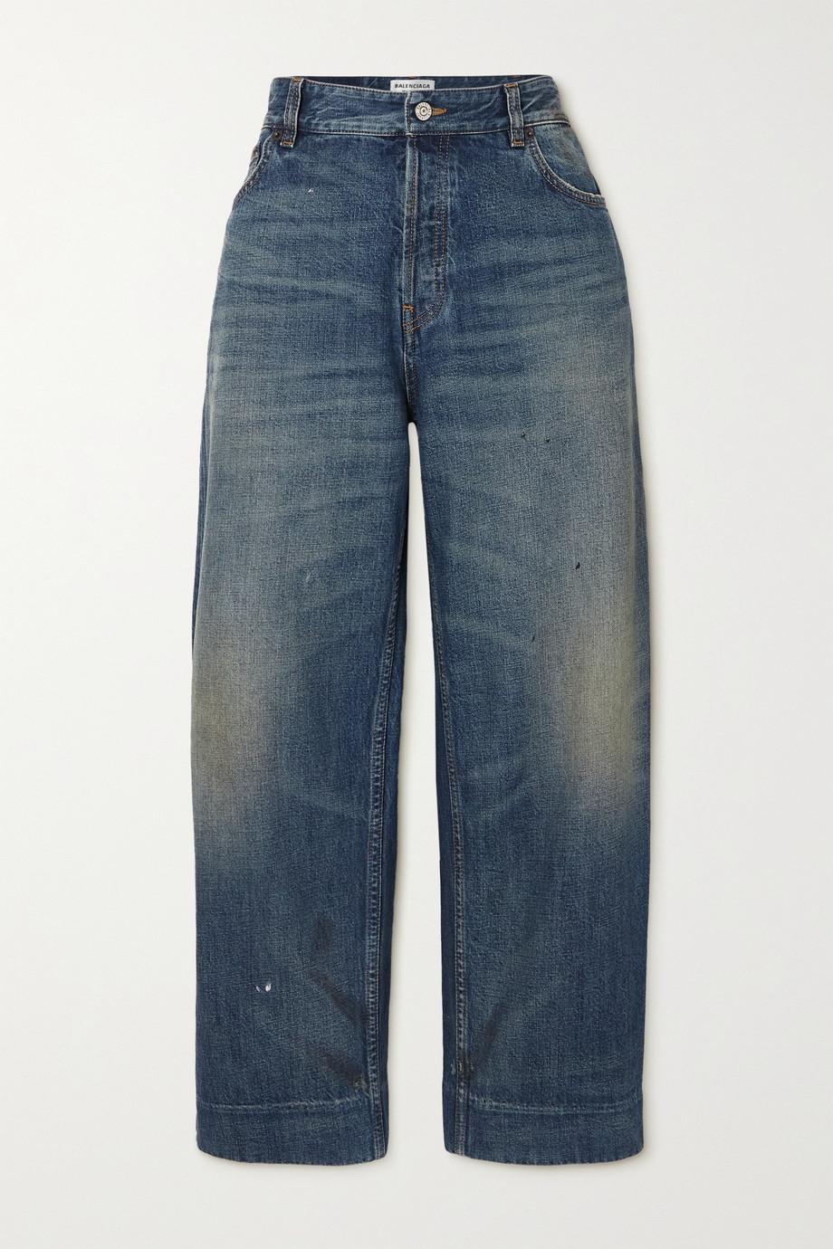 Balenciaga Jean raccourci taille haute