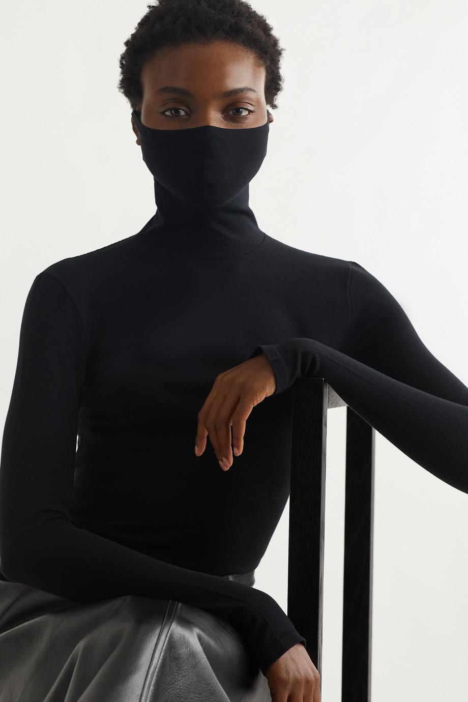Balenciaga Haut à col roulé en jersey de modal mélangé stretch