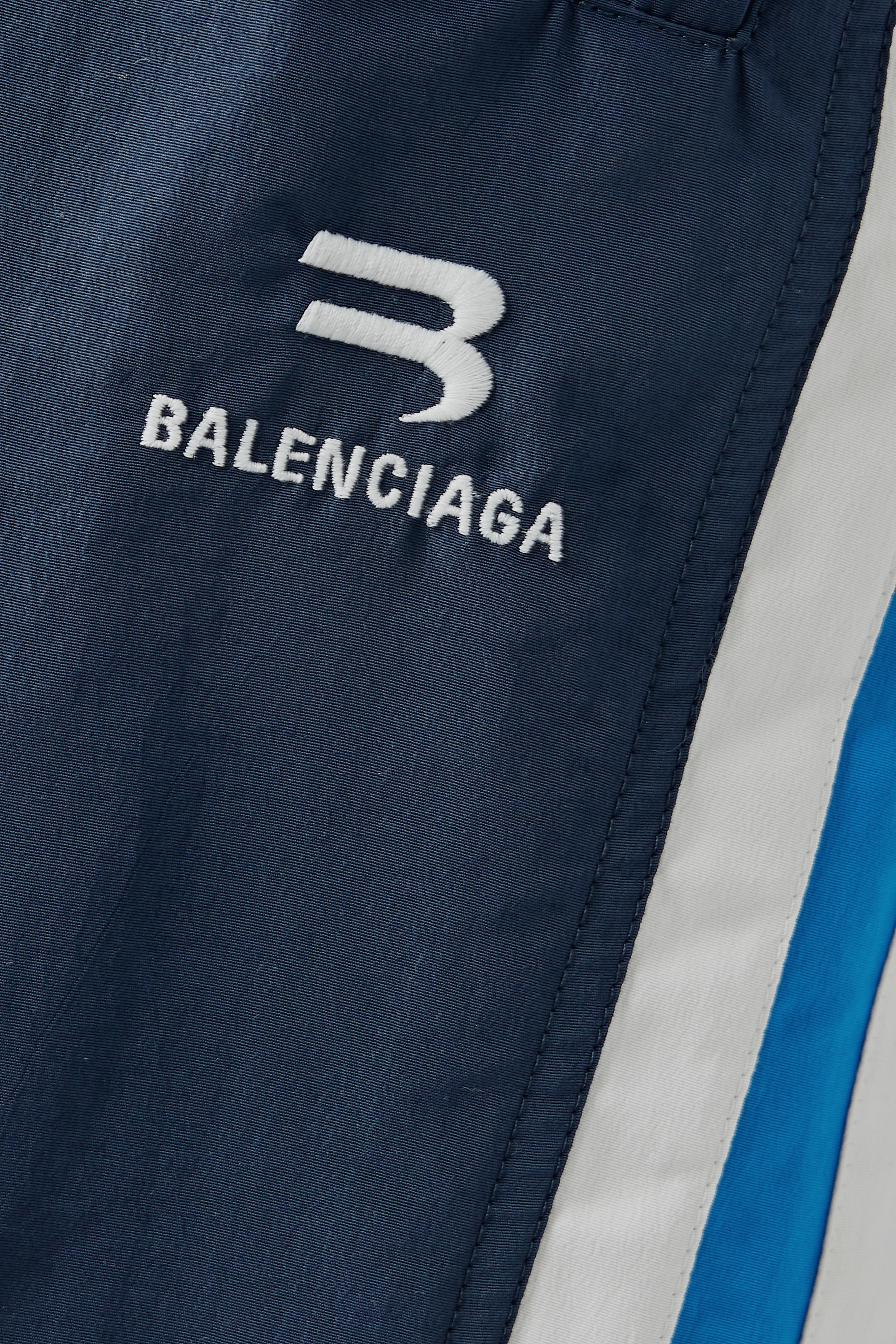 Balenciaga Oversized striped shell track pants