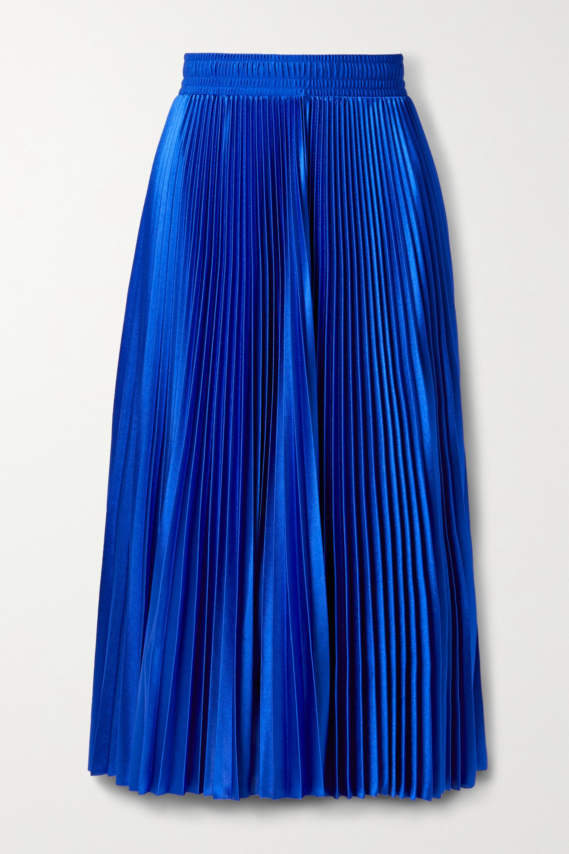 Balenciaga Pleated satin-twill midi skirt
